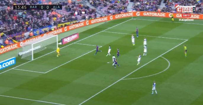 Një çerek ore lojë dhe zhbllokohet sfida mes Barcelonës dhe Alaves, goool VIDEO