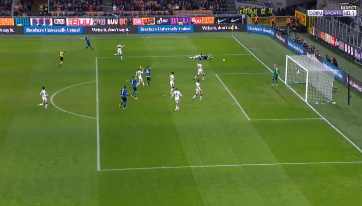 "Interi shënon dy gola lezeti,  e ""demolon"" Genoan"