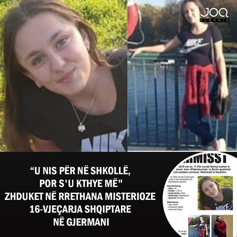 Një adoleshente shqiptare nga Tetova është zhdukur në rrethana misterioze në Berlin të Gjermanisë