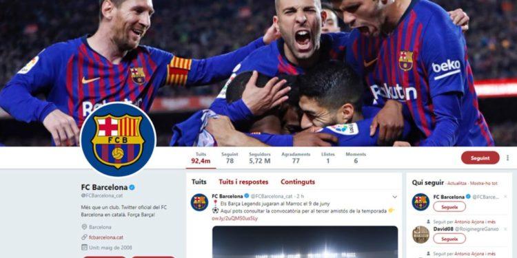 """Barcelona, """"mbretëresha"""" e """"Twitter"""" për vitin 2019"""