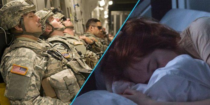 Teknikë ushtarake për të fjetur në dy minuta