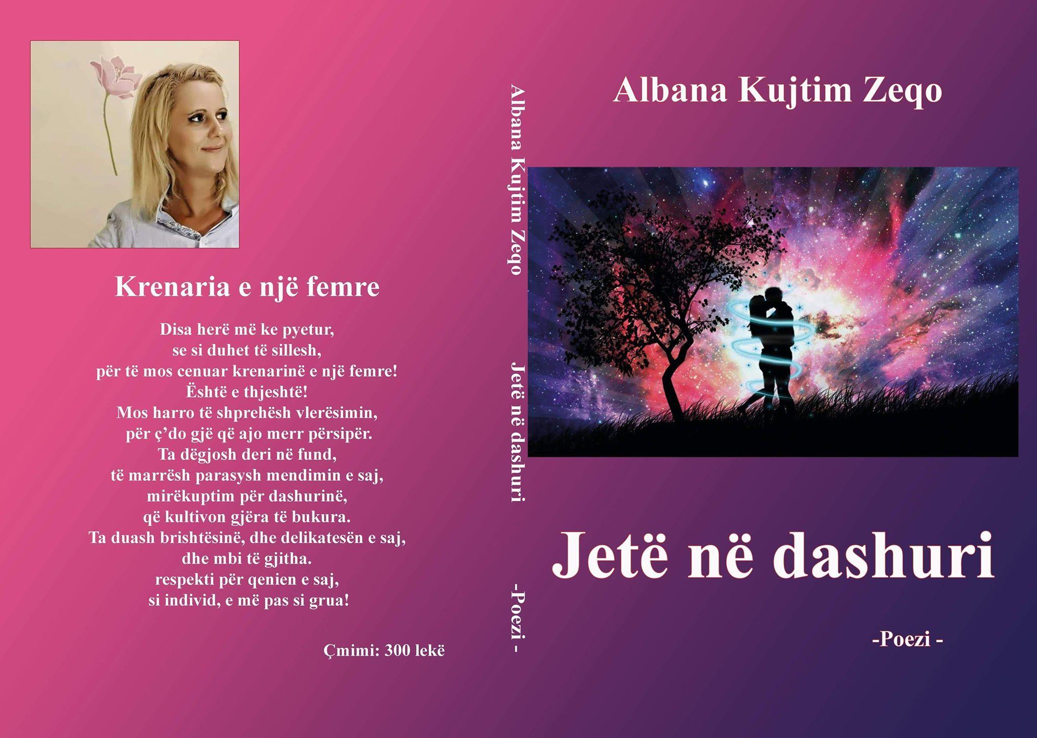 """Libri """"Jetë në dashuri"""" i autoresAlbana Zeqo një frymë poetike që lëshon tinguj simfonie"""