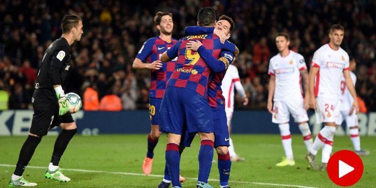 """Barcelona realizon """"manita"""" kundër Mallorca, Messi """"tripletë"""", Suarez """"jashtëtokësor"""""""