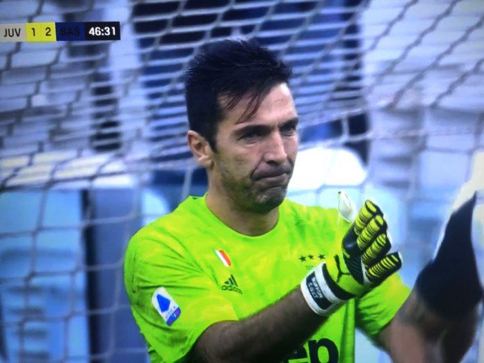 Gafë e rëndë e Buffon dhe De Ligt, Sassuolo në avantazh ndaj Juves (VIDEO)