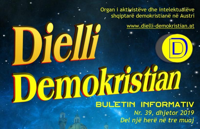 Nr. 39-Revista DIELLI DEMOKRISTIAN (Vjenë, dhjetor 2019)-shqip dhe gjermanisht