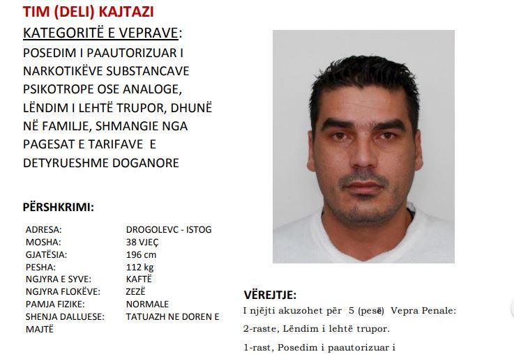Policia arreston personin e kërkuar për pesë vepra penale